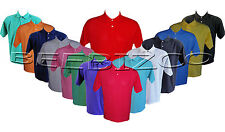 Men/Ladies Short Sleeve Plain Polo Shirt Tshirt Top Casual Cotton Mix S - XXL