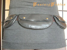Steampunk Travel Rocker Leather Utility belt with Pouches Pockets
