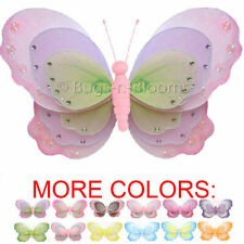 Butterfly Decor Ceiling Hanging Girl Room Home Baby Nursery Nylon Butterflies