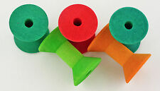 5 Wood Spools, Bird Toy Making Parts - Medium to Large Birds by Fowl Play