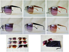 New Women's Aviator Top Rhinestone Sunglasses Designer Shades Fashion Retro