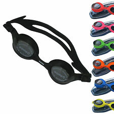 Swim Goggles With Corrective Lens by Splaqua, Red Green Black Blue Yellow Pink