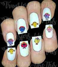 30 LITTLE MISS NAIL ART DECALS STICKERS / TRANSFERS PARTY FAVORS MR MEN