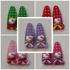 Hello Kitty Colorful Ribbon Accessory Hair Grip Clip for Girls Baby x 2pcs(1set)