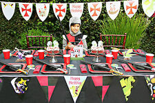 Knights and Dragons Birthday Party Kit for 8