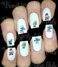 30 SMURFS NAIL ART DECALS STICKERS /TRANSFERS PARTY FAVORS MIX AND MATCH