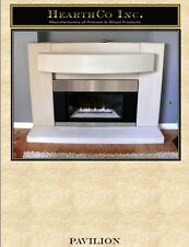 Pavilion Fireplace Mantel (mantle) Surround GYPSUM precast mantels