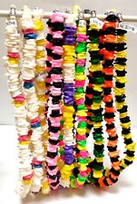 "Puka Shell Necklace 18"" Solid & Mixed Colors Choker w/Screw Clasp"
