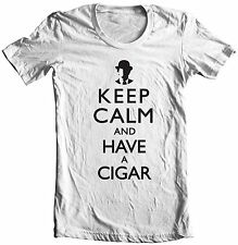 KEEP CALM AND HAVE A CIGAR KCCO PINK FLOYD WISH YOU WERE HERE T-SHIRT