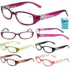 Plastic Color Reading Glasses with Flower/Star Design