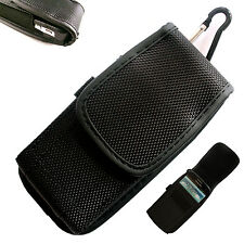 Nylon Belt Loop Hip Case Cover Velcro Holster for Mobile Phone Universal Pouch