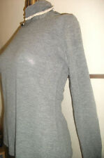 WOMENS YUMI GREY POLO NECK TOP * BRAND NEW *