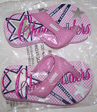 New Dallas Cowboys Cheer Cheerleader Flip Flops Sandals Pink Cute Toddler Girl