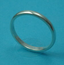 Solid 925 Sterling Silver 2.2mm Wedding Ring/Band D Shape Jewellery Various Size