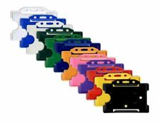 Plastic Rigid ID Card/Badge Holders -  12 Colours Available Qty's 1-100 Free P&P