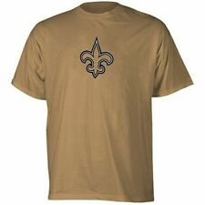 New Orleans Saints NFL Team Apparel Logo T Shirt Gold Big and Tall Sizes