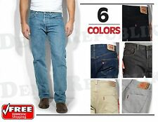 LEVIS 501® ORIGINAL JEANS MENS Levi's Button Fly Straight Leg Black Blue GreyNWT