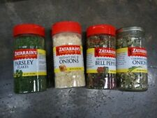 ZATARAIN'S SEASONINGS DEHYDRATED BELL PEPPERS GREEN DICED ONIONS PARSLEY FLAKES