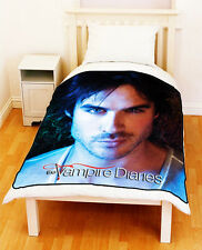The Vampire Diaries DAMON SALVATORE Bed Throw Fleece Blanket Gift Medium Large