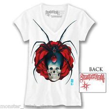 NEW W/ TAGS WOMENS STEADFAST WIDOW MAKER TEE SHIRT WHITE SMALL-2XLARGE LIMITED