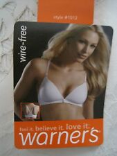 "NEW NWT WARNER'S ""ELEMENTS OF BLISS"" WIREFREE  FRONT-CLOSE RACERBACK BRA 1012"
