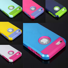 Colorful Hybrid Rugged Rubber Matte Hard Case Cover For Apple iPhone 4 4S 5G 5S
