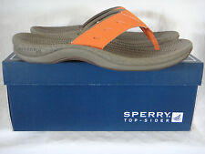 Sperry Longitude Thong Orange Flip Flops Sandals Mens Size 7-13 New with Box