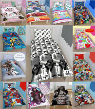 NEW BOYS ALL CHARACTERS SINGLE DUVET QUILT COVER SET