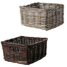 Ikea Handwoven Organizer Storage Box Basket Brown or Gray Brand New