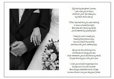 ♥ Personalised Wedding Day Poem Gift ♥ From Father of Bride to Daughter ♥