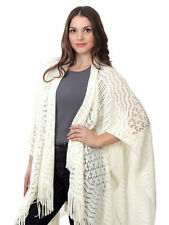 Taleen Soft and Smooth Fringed Knit Shawl Wrap, Two Chic Colors