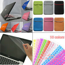 4in1 Matte Rubberized Hard Case+KB Cover + soft Bag for Macbook Pro 13/Pro 15