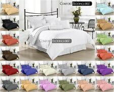 Hotel New Brand Cal-King 3pc Duvet Set 1000TC 100%Egyptian Cotton IN All Color
