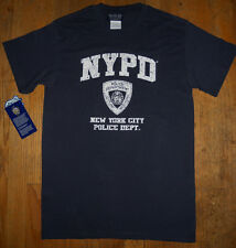 Navy Blue Distressed NYPD Licenced Short Sleeve T-Shirt 100% Pre-Shrunk Cotton