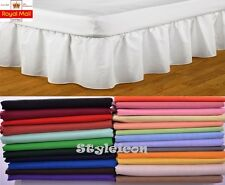 "14"" Extra Deep Dyed Poly Cotton Fitted Valance Sheet Soft Fabric- King Size"