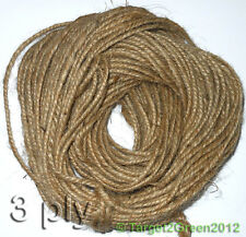 Buy1Get1 Free Strong Natural Brown Rustic Jute Burlap Hessian Twine Sisal String