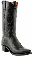 Lucchese Since 1883 N1652.54 Mens Black Buffalo Cowboy Boots Made in USA
