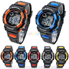 Men Boy Sports Style Digital LED Quartz Alarm Day Date Display Wrist Watch B62U