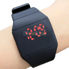 Fashion Mens Womens Vogue LED Touch Digital Watch Rubber Casual Wrist Watch B62U
