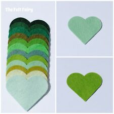 Felt Wool Mix 12inch / 30cm Squares ~ Choose From 12 Green Shades ~ Greens