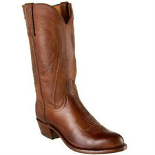 Lucchese 1883 N1596 R4 Mens Tan Burnished Ranch Hand Calfskin Boots Made in USA
