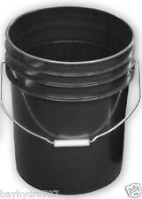 Black 5 Gallon Bucket With Handle NEW Variation ## $$ SAVE WITH BAY HYDRO $$