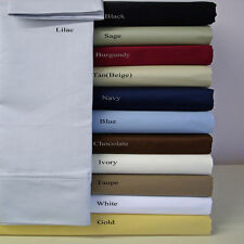 3pc Twin XL College Dorm Student Solid Color Microfiber Sheet Set