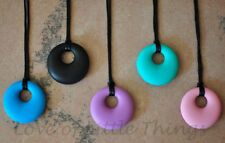 Round Pendant Silicone Mommy Nursing Teething Necklace for Mom & Baby BPA Free