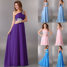 Long Chiffon Bridemaid Dress Women Formal Party Dress Prom Gown Evening Cocktail