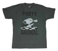 Peanuts Snoopy Party Animal comic strip vintage classic funny throwback T shirt