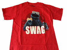 Sesame Street Cookie Monster Swag red show t shirt