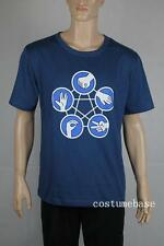 The Big Bang Theory Hand Game Rock Paper Scissors LIZARD Spock T-SHIRT BLUE