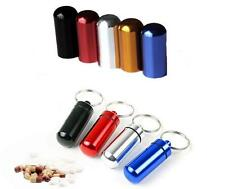 Aluminum Pill Box Case Bottle Cache Drug Holder Container Keychain Waterproof