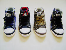 Toddler Boys/Girls Black/Navy Denim Lace Up Casual Sneakers Shoes Size 4--9